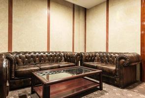 lobby de luxo no hotel foto