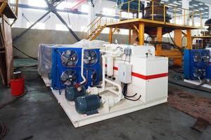 interior moderno da fábrica do mecanismo foto