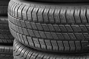 pneu texturizado para o fundo. borracha foto