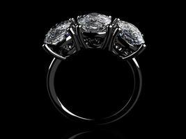 o anel de casamento de beleza