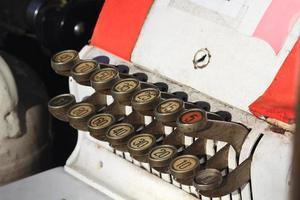 chaves antigas da caixa registadora foto