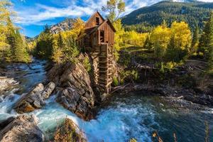 outono no moinho de cristal colorado paisagem foto