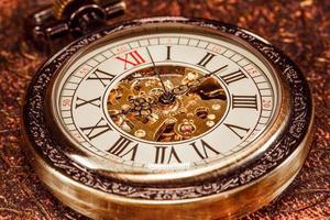close-up no relógio vintage foto