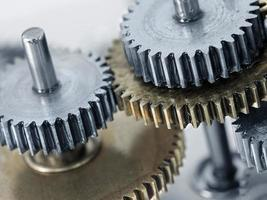 mecanismo de rodas de engrenagem foto