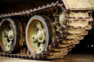 faixas obsoletas de tanques foto
