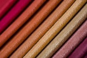 amostras de tecido colorido, close-up foto
