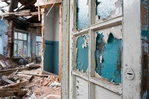 a casa destruída foto
