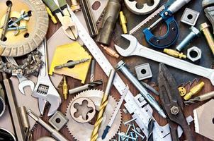 ferramentas de construção e medição