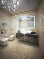 projeto elegante do banheiro