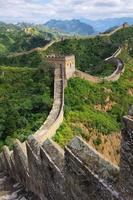 Pequim grande muralha da china foto