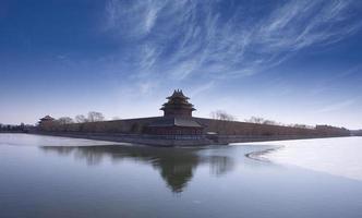 torre da esquina da cidade proibida, marco da cidade de Pequim foto