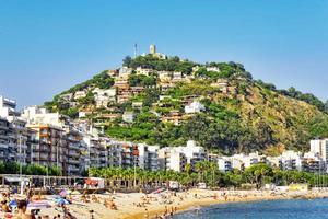 beira-mar, praia, costa na Espanha.