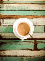 café com leite quente foto