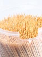 close-up dos palitos de dente. foto