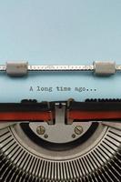 máquina de escrever vintage foto
