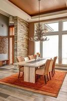 sala de jantar em casa de luxo