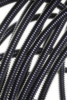 tubo corrugado de plástico preto foto