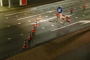 local de construção de estradas foto