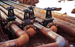 válvulas de tubulação de óleo e gás
