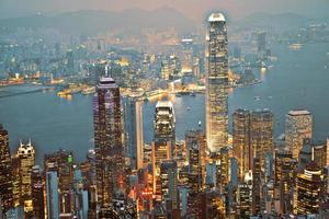 vista de hong kong do pico de victoria foto