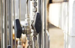 válvula industrial em imagens industriais no local foto