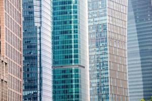 fundo da parede de vidro do edifício moderno