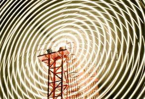 longa exposição da roda gigante foto