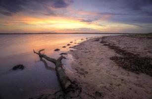pôr do sol em bonna point nsw austrália foto