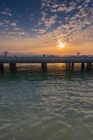 ponte de xiamen yanwu ao entardecer foto