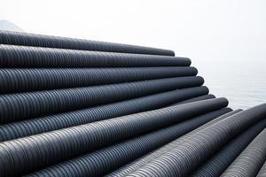 tubo de plástico industrial foto