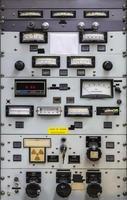 painel de controle eletrônico do vintage foto