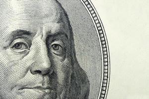 dólares closeup foto
