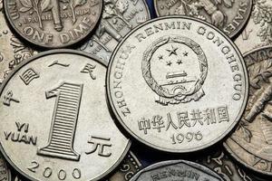 moedas da china foto