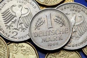 moedas da alemanha foto