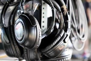 fundo de fones de ouvido foto