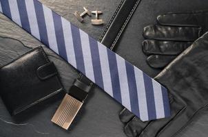 acessórios para homem de negócios foto