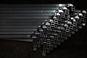 tubo quadrado de metal