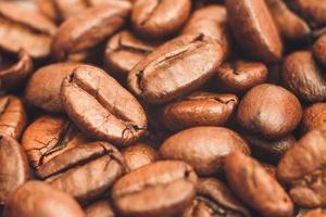 fundo vintage de grãos de café foto