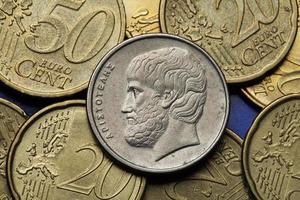 moedas da grécia foto