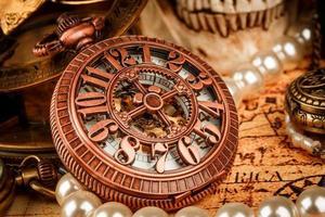 relógio de bolso do vintage
