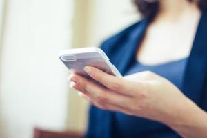 digitação de smartphone foto