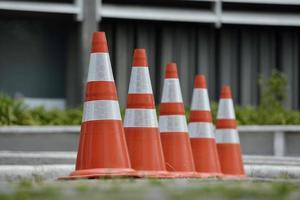 Cones de tráfego foto