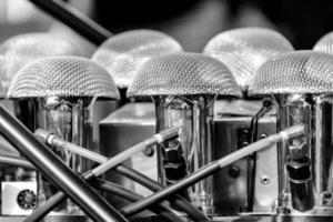 detalhe de um motor vintage