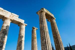 pilares do antigo templo zeus foto
