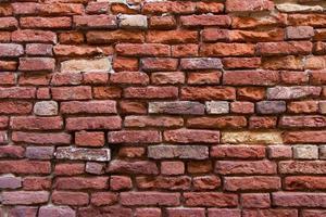 textura de parede brik com profundidade foto