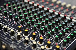 mixador de som ao vivo
