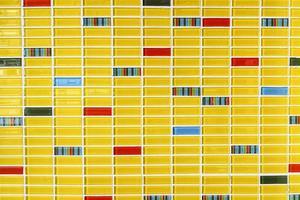 mosaico amarelo azulejos textura de fundo foto