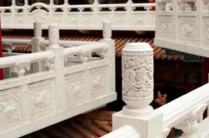 corrimão do templo chinês foto