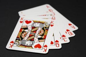 combinação de royal flush poker foto