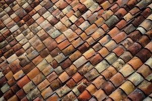 telhas de tijolo antigo foto